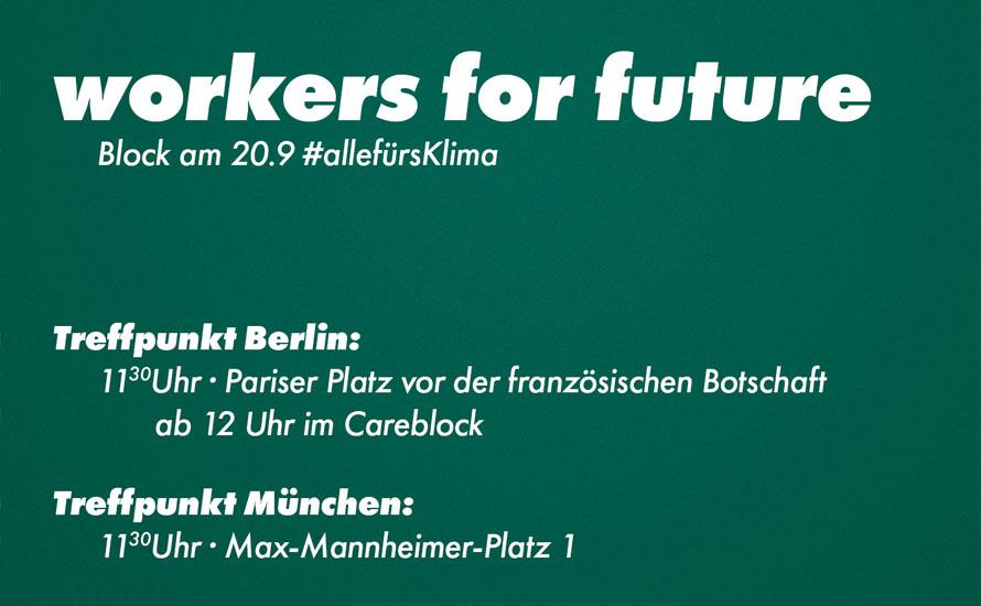 Workers for Future: Auf zum politischen Klimastreik am 20. September!