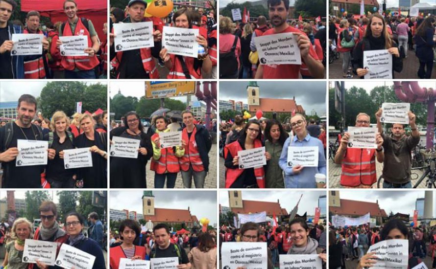 Solidarität von Berlin nach Oaxaca – Fotos 10.000 mal geteilt