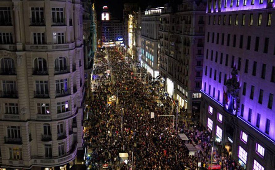 Spanien erlebt die weltweit größten #8M-Demonstrationen
