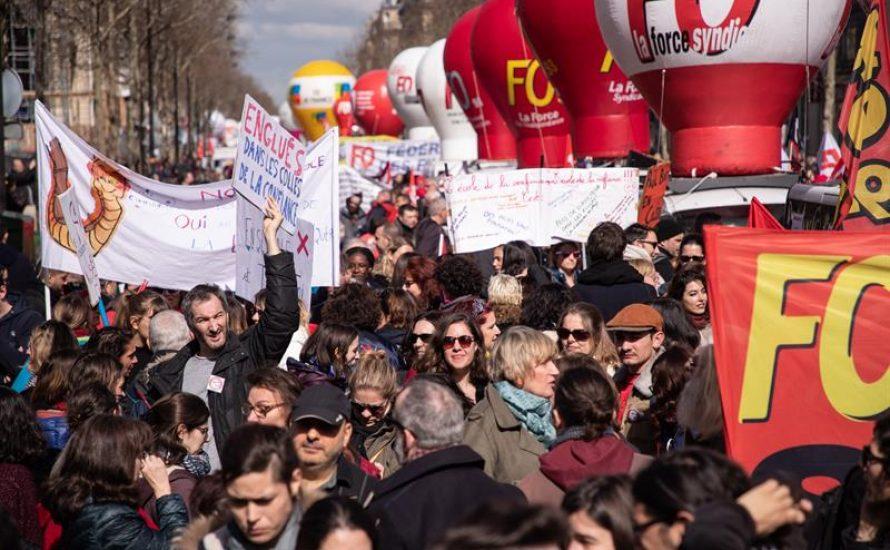 Zehntausende demonstrieren in Frankreich mit einem neuen Generalstreik gegen Macron