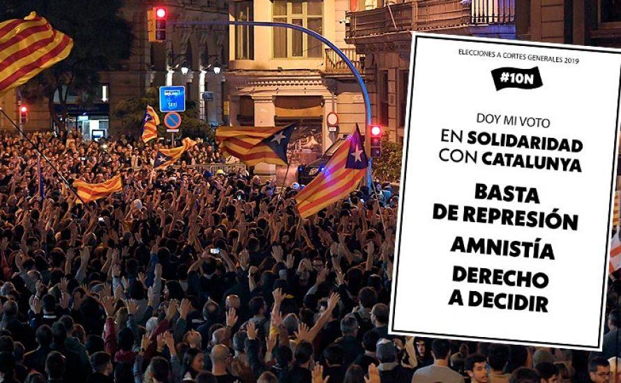 Wahlen im Spanischen Staat: Am 10. November ein Zeichen der Solidarität mit dem katalanischen Volk setzen!