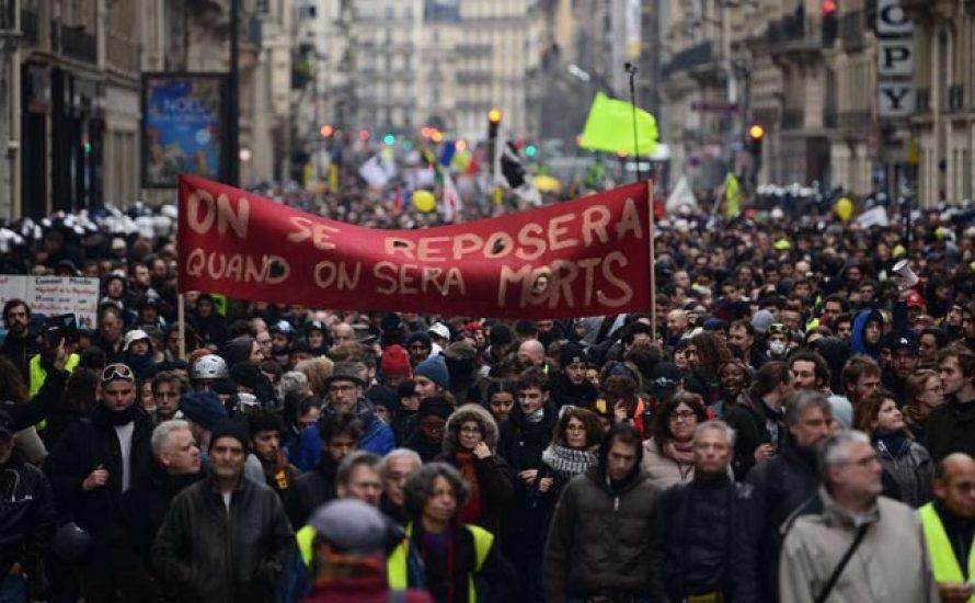 Mehr als 1,5 Millionen in den Straßen Frankreichs an einem großen Tag der Mobilisierungen und Streiks