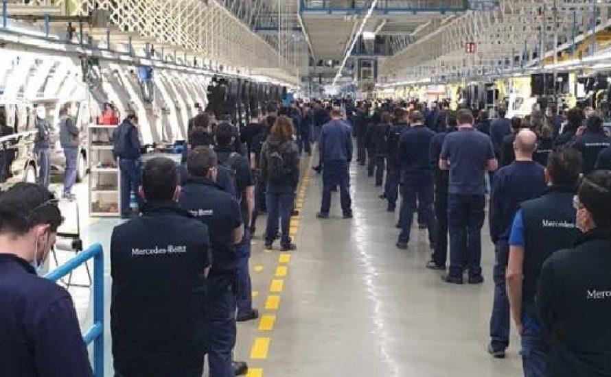 Spanien: 5000 Arbeiter*innen von Mercedes stoppen die Produktion aufgrund der Untätigkeit des Unternehmens