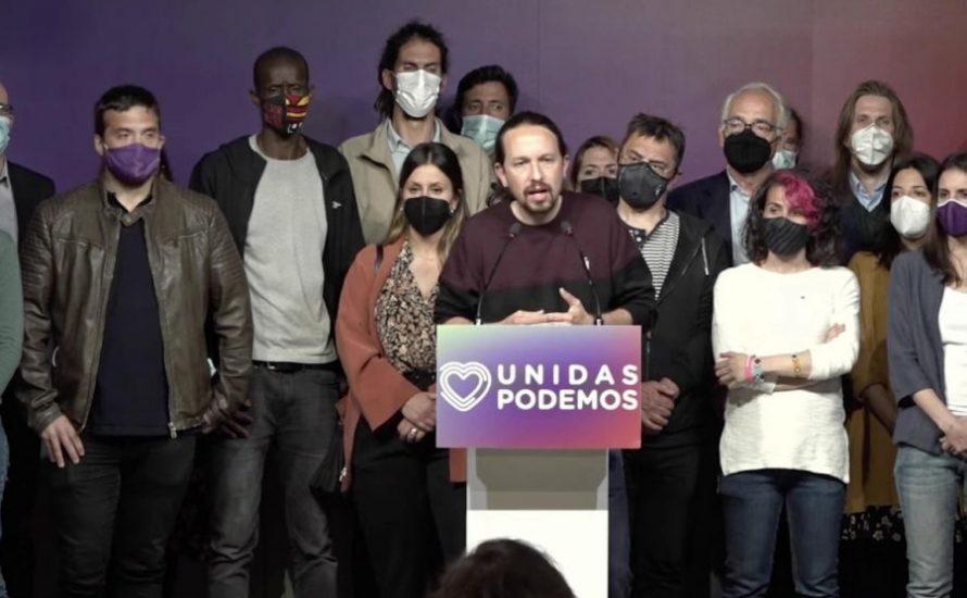 Pablo Iglesias verlässt nach der Wahlniederlage in Madrid die Politik