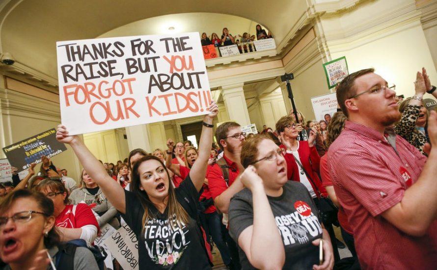 Die Lehrkräfte von Oklahoma sind wütend auf ihre Gewerkschaft