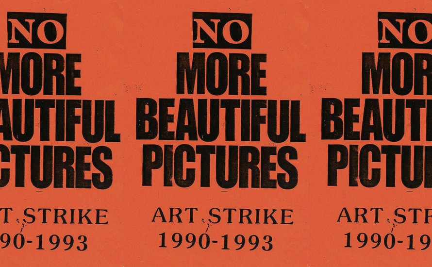 No more beautiful pictures! Art strike!