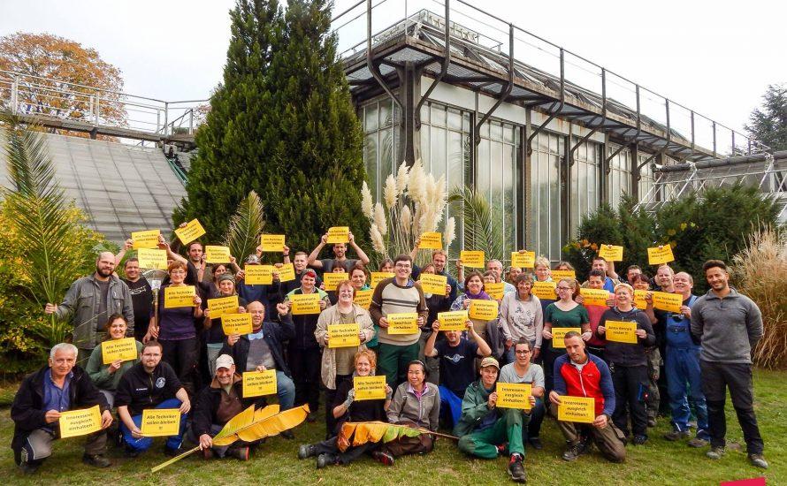 Botanischer Garten: Alle Techniker bleiben!