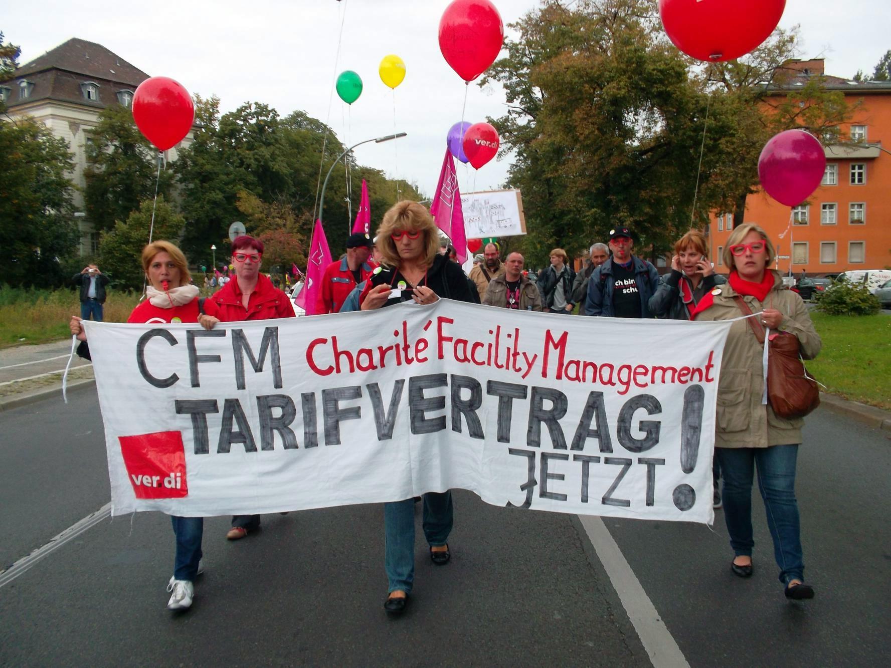 Streik gegen Prekarisierung