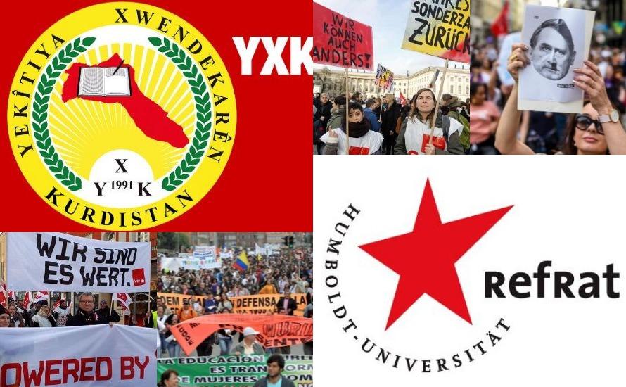 Das Studierendenparlament der FU  Berlin solidarisiert sich mit unterschiedlichen Sektoren