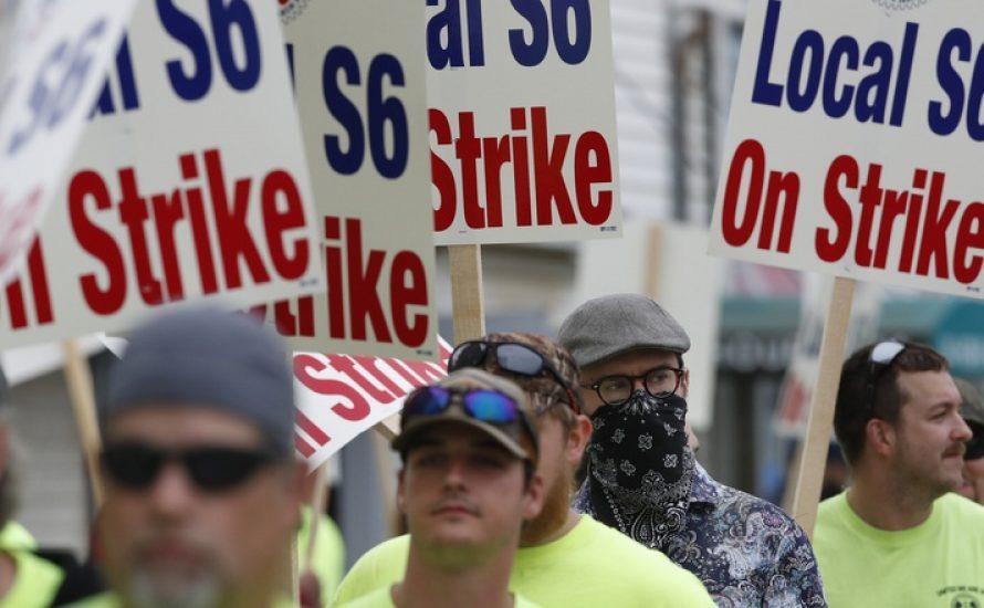 Imperialismus ist nicht systemrelevant: Werftarbeiter*innen streiken gegen US-Militär