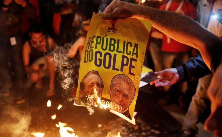 Die Bundesregierung unterstützt die Putschregierung in Brasilien