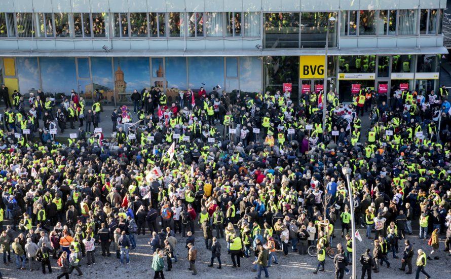 Streikwelle in Berlin: BVG, CPPZ, TV-L – die Stadt liegt lahm