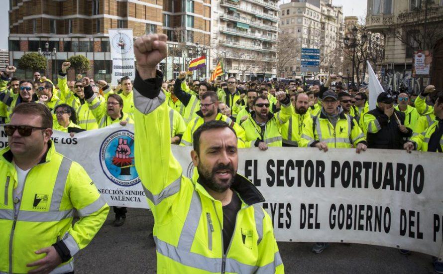 Spanische Hafenarbeiter*innen streiken zur Verteidigung ihrer Arbeitsplätze