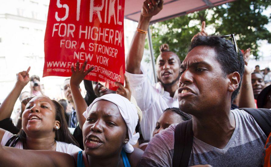 Streikposten vor McDonald's