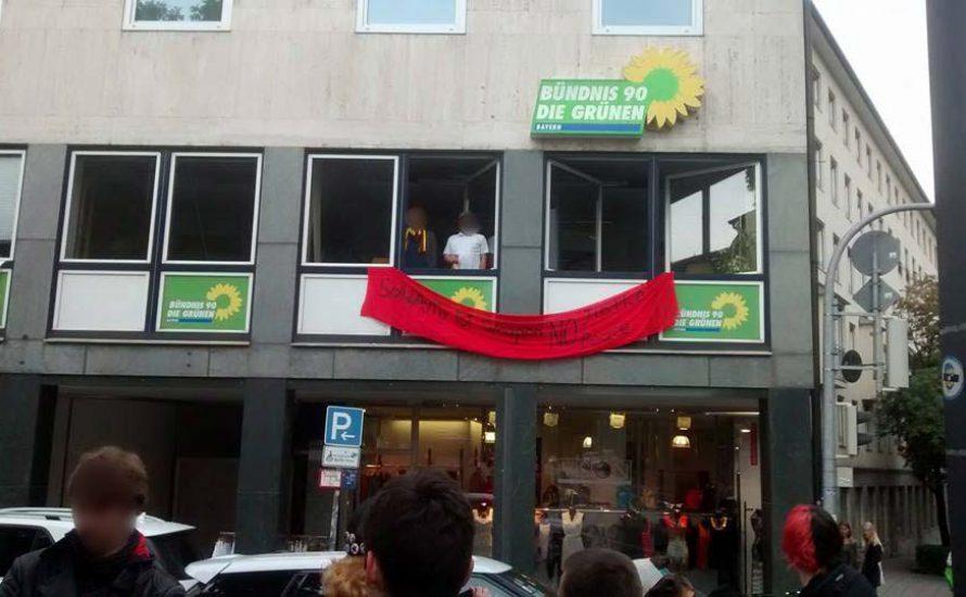 München: Besetzung des Parteibüros der Grünen