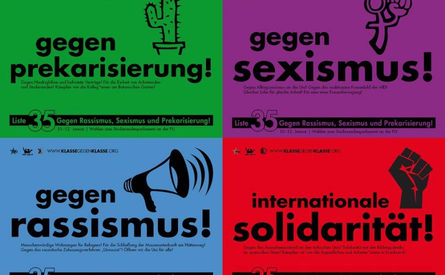 LISTE 35 – Liste gegen Rassismus, Sexismus und Prekarisierung! [mit Video]