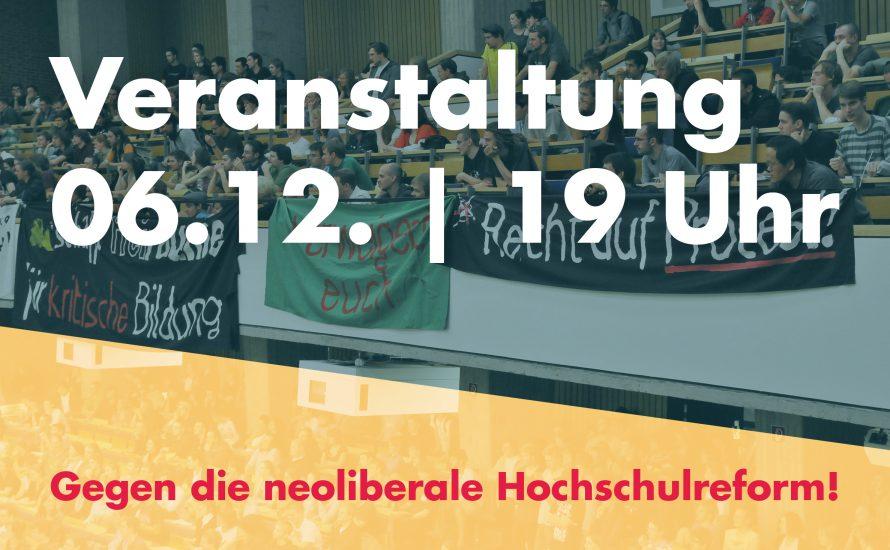 Veranstaltung: Für eine Uni unter Kontrolle von Studierenden und Beschäftigten