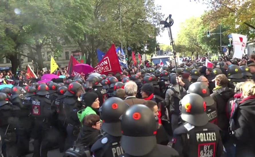 [Video] Repression bei der Demonstration gegen das bayrische