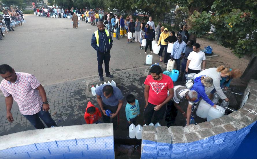 Day Zero ist bereits da für die Armen in Kapstadt