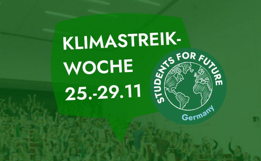 Uni for Future: Streiks und Selbstverwaltung überall! 25. bis 29. November