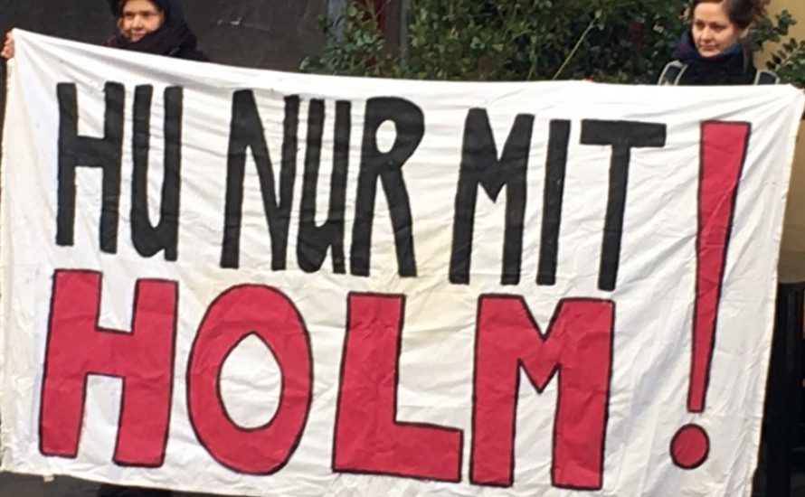 HU nur mit Holm: Protest gegen die Entlassung eines linken Wissenschaftlers
