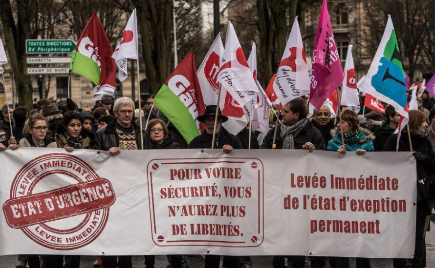 Widerstand gegen den Ausnahmezustand in Frankreich