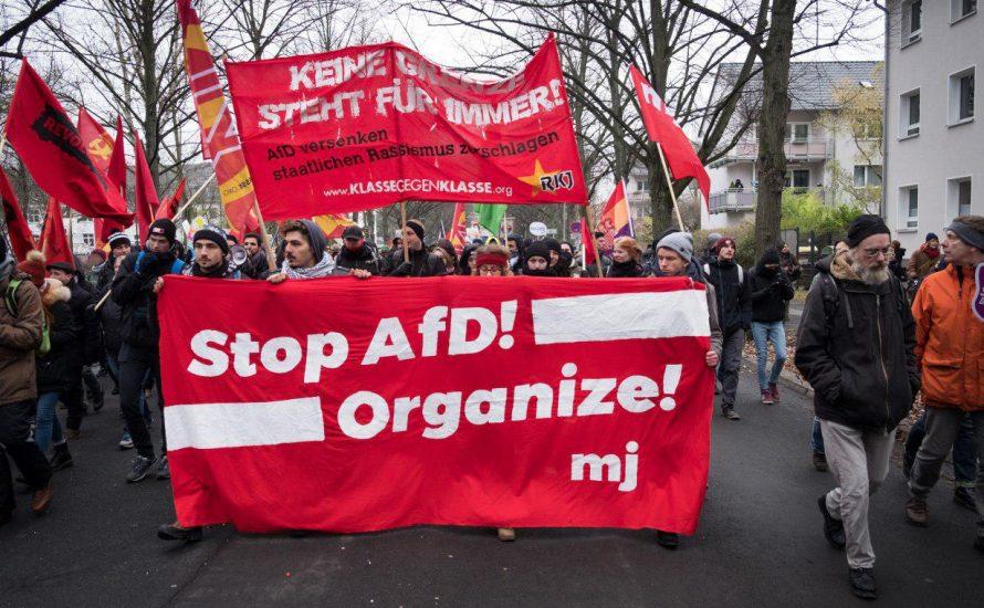 [Fotogalerie] Bilder vom Protest gegen den AfD-Parteitag