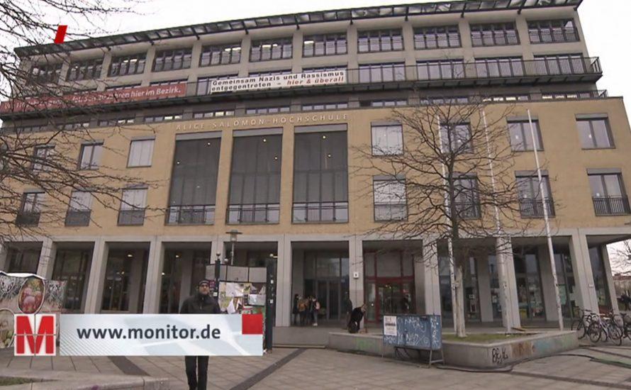 MONITOR: Katastrophale Arbeitsbedingungen der Reinigung an der Alice Salomon Hochschule