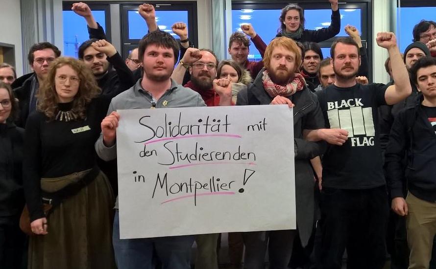 TVStud: Solidarität mit den Studierenden in Montpellier