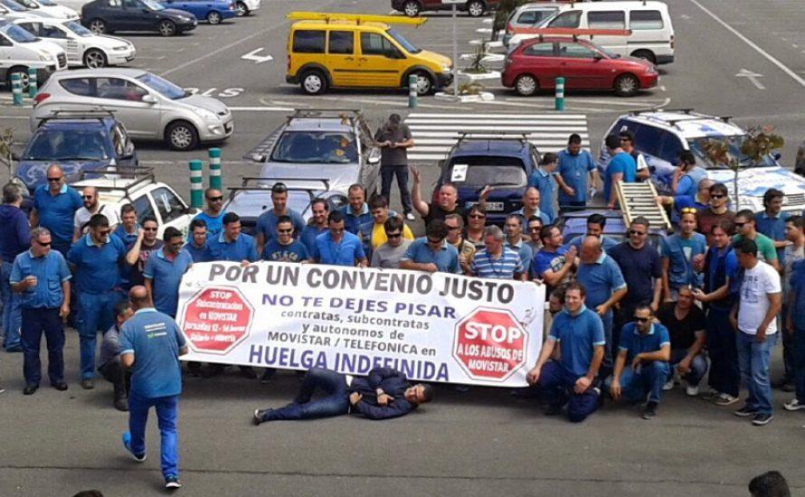 Der Kampf der ArbeiterInnen von Movistar