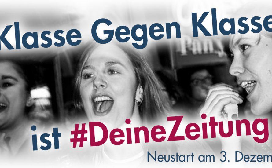 #DeineZeitung – Klasse Gegen Klasse startet am 3. Dezember neu!
