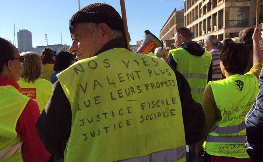 """Gilets Jaunes in Marseille: """"Unsere Leben sind mehr wert als ihre Profite"""""""
