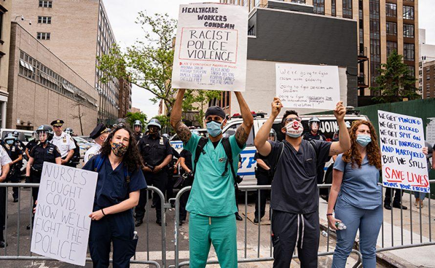 Sozialistische Gesundheitsarbeiter*innen fordern: Polizei raus aus unseren Gewerkschaften und Krankenhäusern!