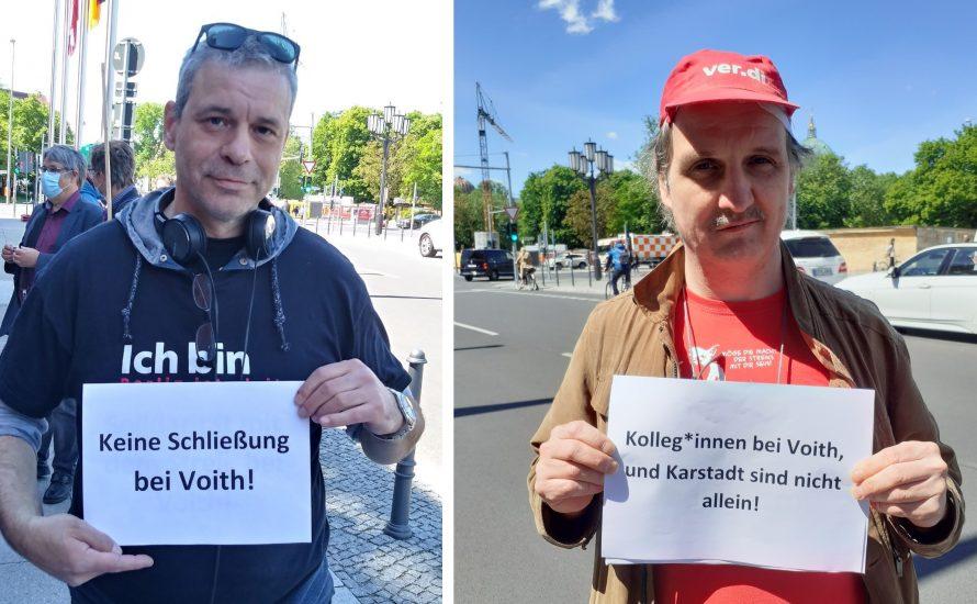 Berliner Krankenhaus-Beschäftigte solidarisieren sich mit dem Streik bei Voith!