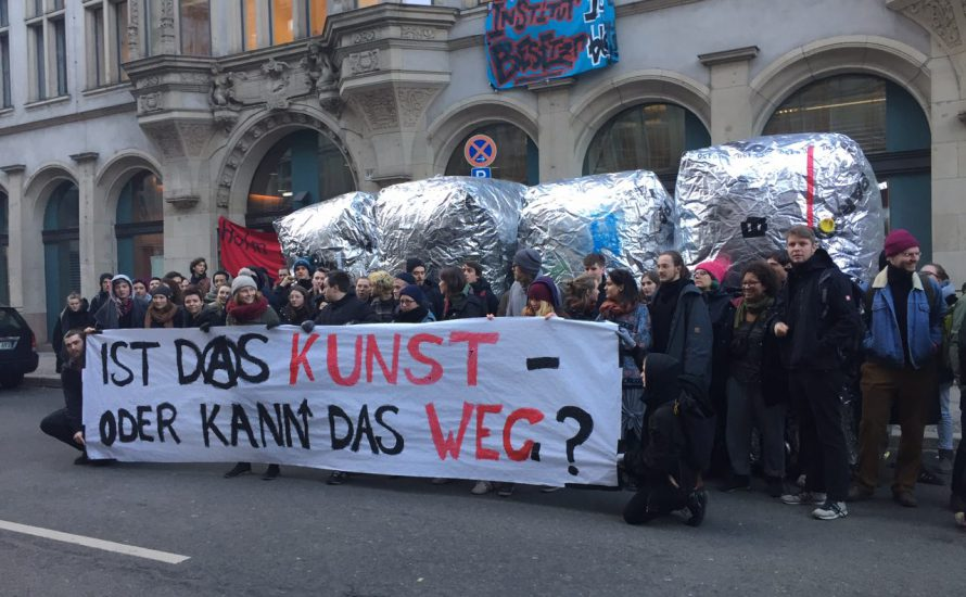Tag Zwei der Besetzung an der HU: So sieht der Protest für #holmbleibt aus