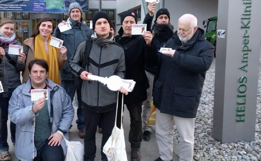 Helios-Krankenhaus: Neuer Geschäftsführer mit Personalschlüssel empfangen