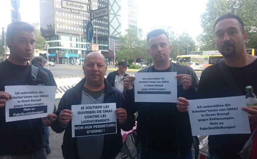 Internationale Solidarität aus Deutschland für die Arbeiter*innen von GM&S!