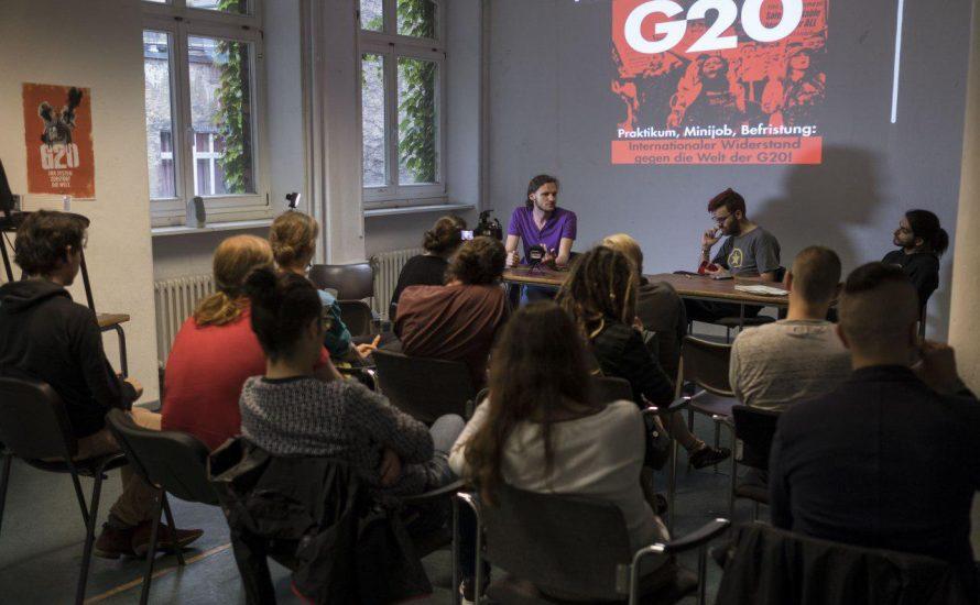 Widerstand gegen Prekarisierung: Nicht zu vergessen bei den G20-Protesten!