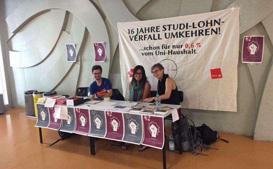 Studentische Beschäftigte solidarisieren sich mit ihren Kolleg*innen am Botanischen Garten