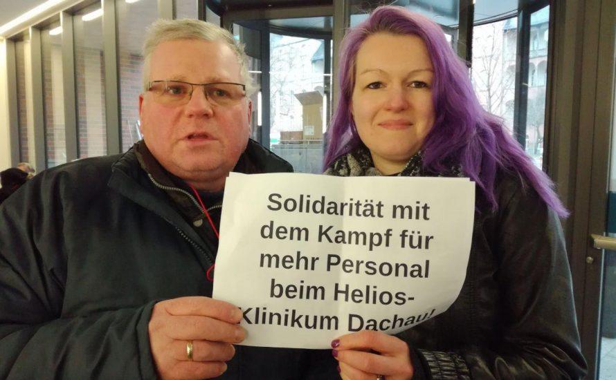 Solidarität aus Berlin: Für mehr Personal am Amper-Klinikum Helios [Bilder-Serie]