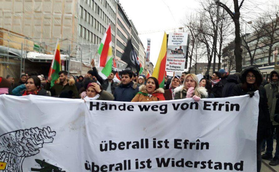 """Kurdistan-Demonstration am Vorabend der Münchner """"Sicherheitskonferenz"""""""