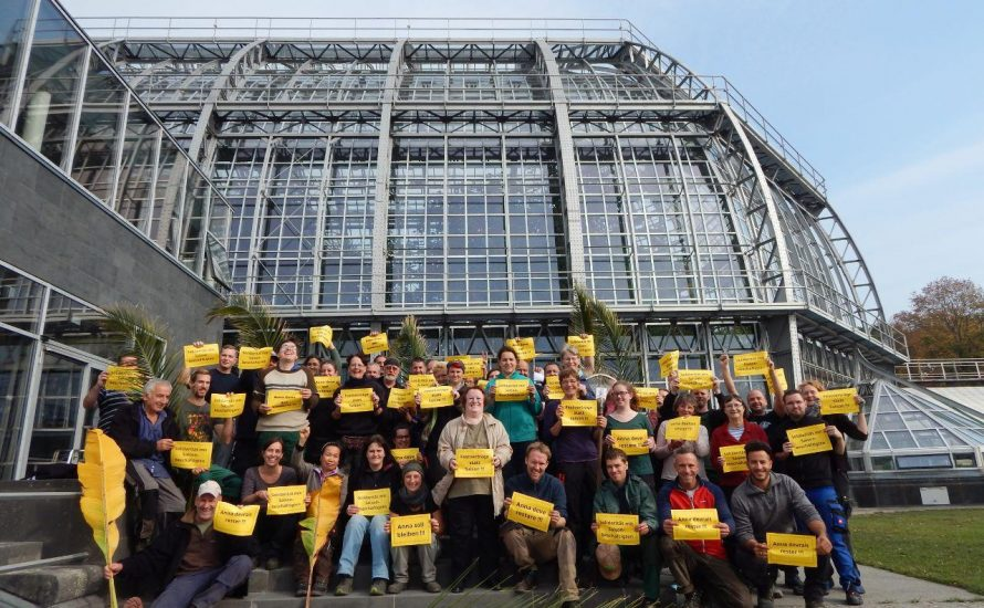 Solidarität mit den Saisonkräften am Botanischen Garten!