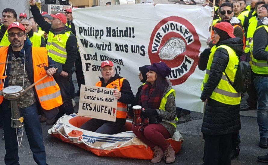 Gebt ihnen Zukunft! - Kundgebung der Beschäftigten der Gersthofer Backbetriebe in München