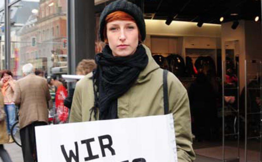 Studierende zeigen Solidarität mit den Streiks im Einzelhandel!
