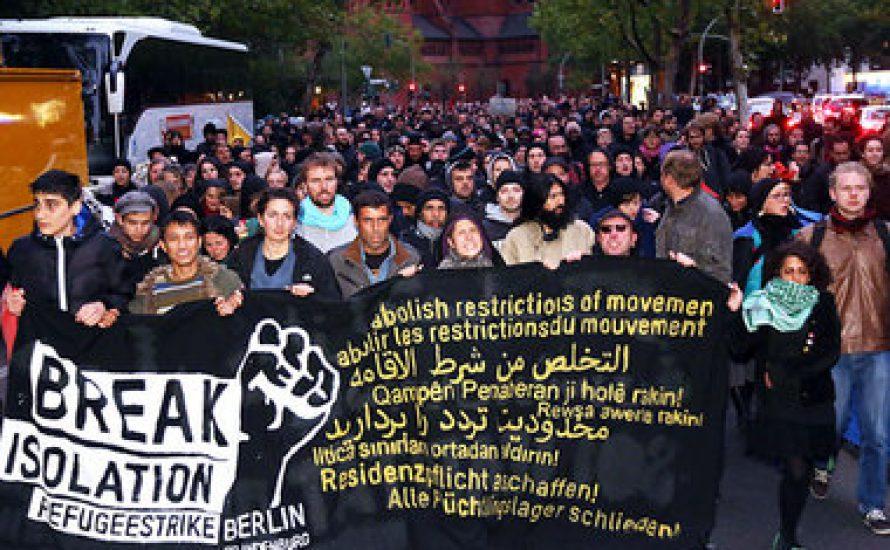 Berlin: 1.000 auf Spontandemo für Flüchtlinge