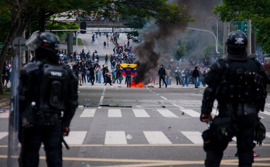 Kolumbianische Polizei ermordet Streikende mit deutschen Waffen