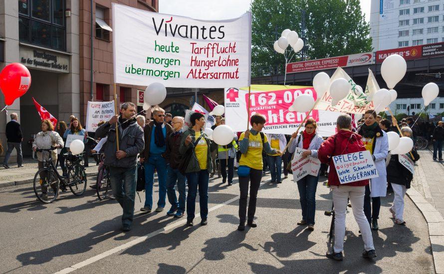 Vivantes lässt Pflege-Streik verbieten