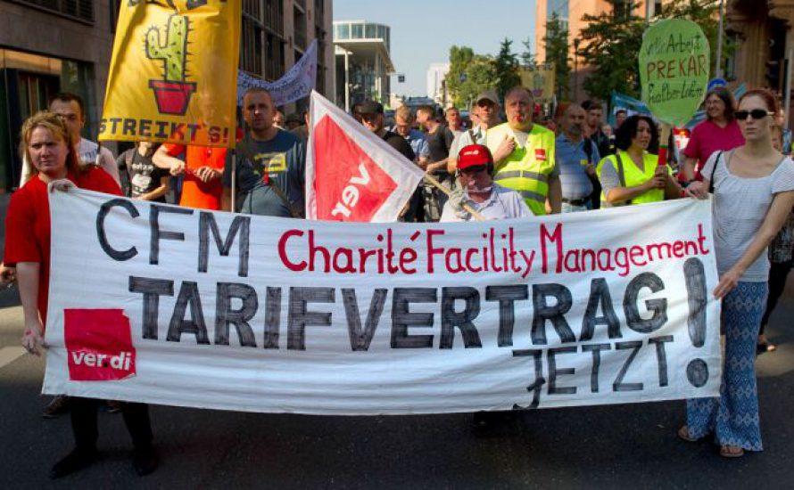 Streik an der Charité gegen Tarifflucht