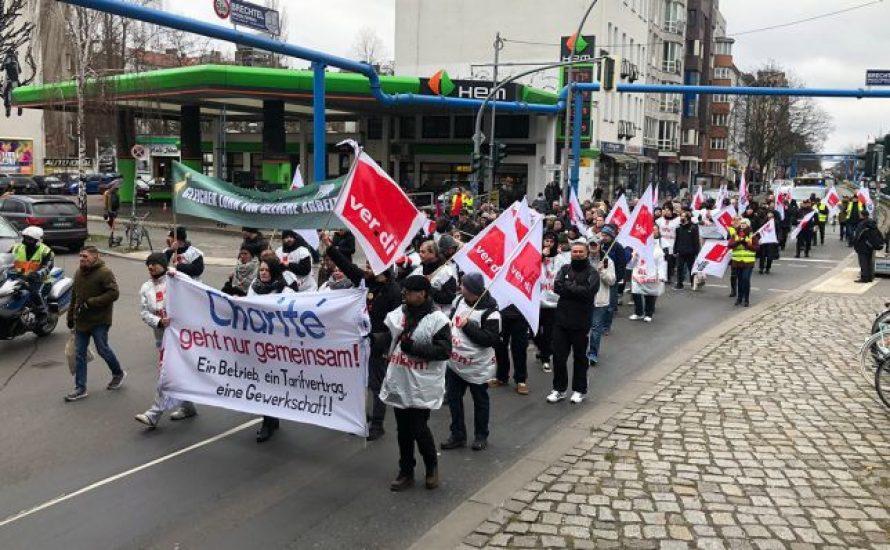 Charité, Vivantes: ver.di-Mitglieder stellen Forderungen an den Senat und Klinikleitungen