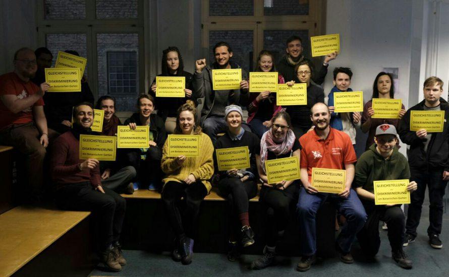 FU verweigert Gleichbehandlung der Beschäftigten des Botanischen Gartens